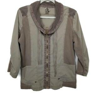 XCVI jacket | utility military look | olive khaki